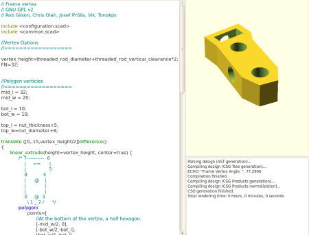 OpenSCAD with Syntax Highlighting