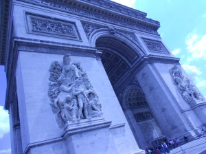 Arc de Triomphe from the front
