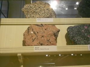Corundum sample from Renfrew Ontario in Berlin's natural history museum