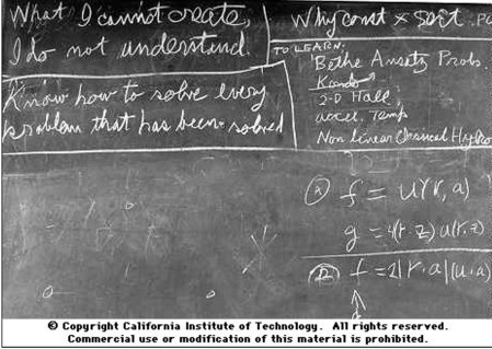 Feynman's blackboard at time of death.
